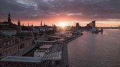 Hamburg City sunrise