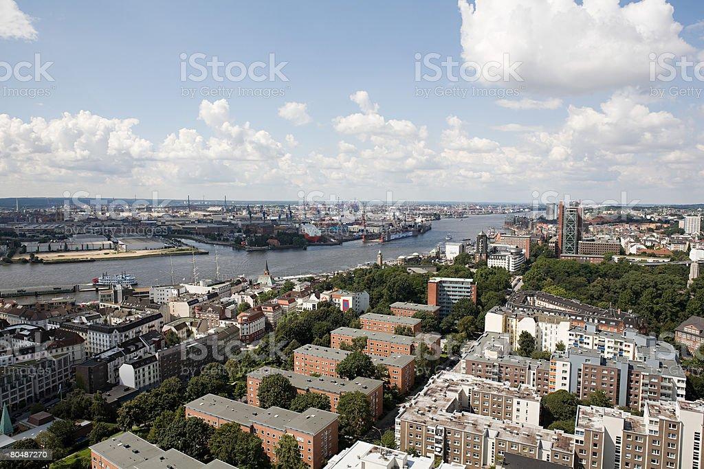 함부르크 도시 royalty-free 스톡 사진
