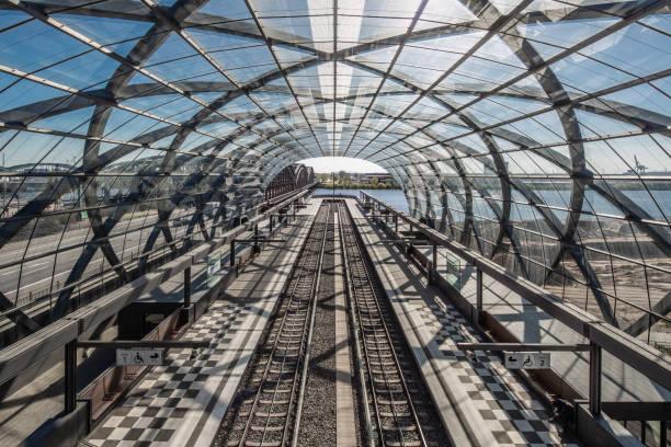 Hamburg Elbbrücken Station stock photo