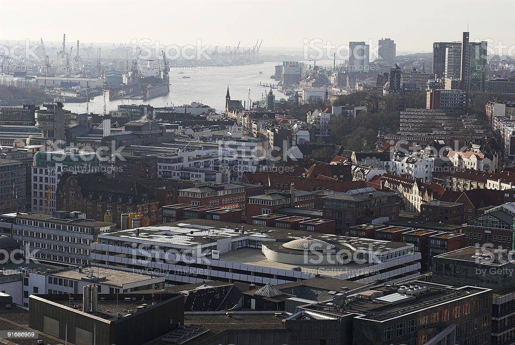 Hamburg from above royalty-free stock photo