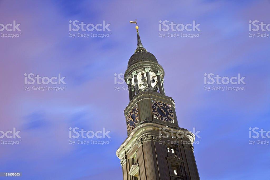 Hamburg, Germany, St. Michaelis Church stock photo
