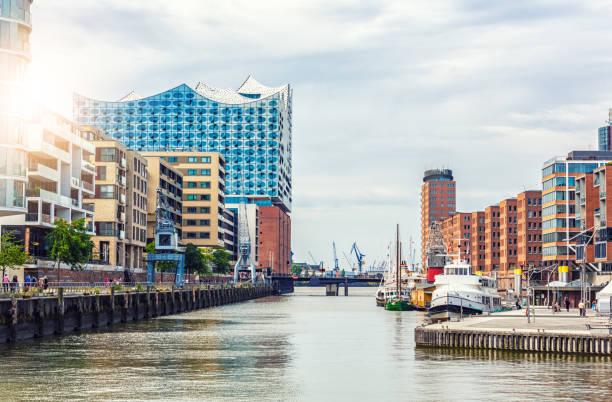 Hamburg Hafencity with Elbphilharmonie stock photo