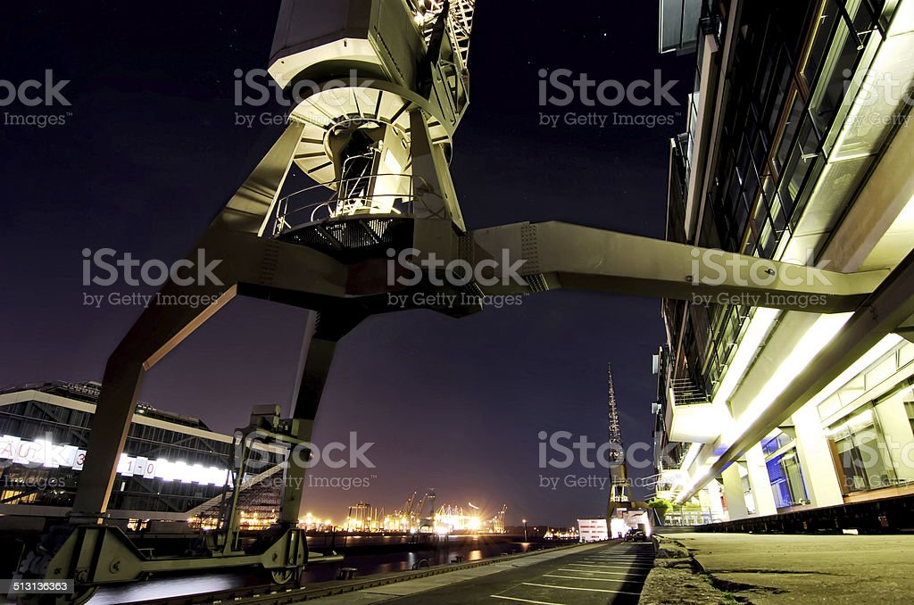 Hamburg harbo stock photo