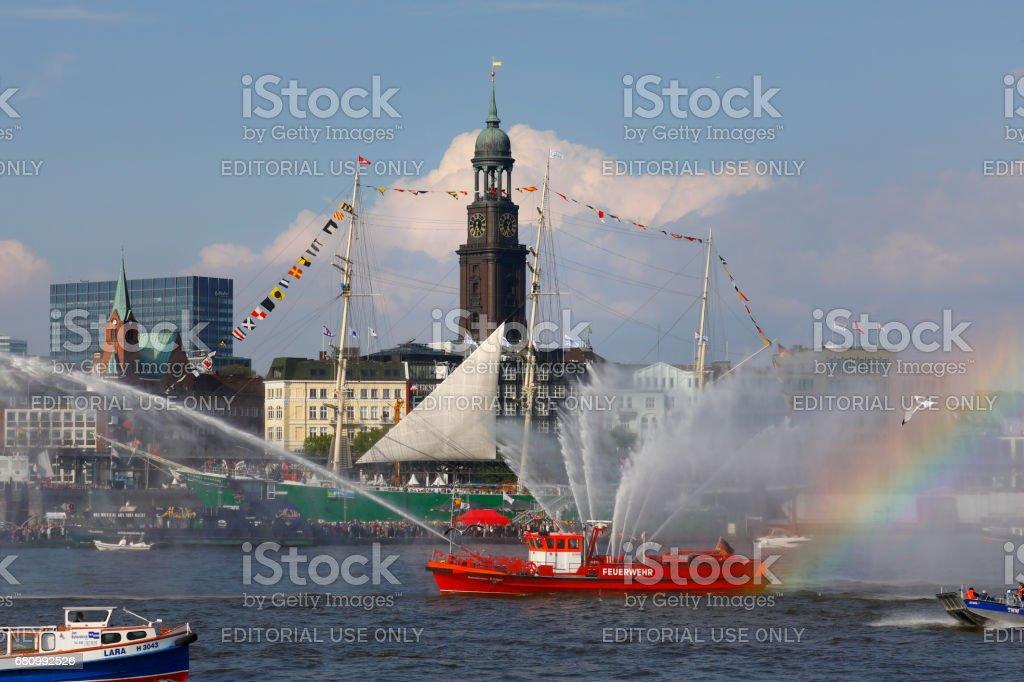 Hamburg Harbor Birthday parade (Hafengeburtstag) 2017, Deutschland stock photo