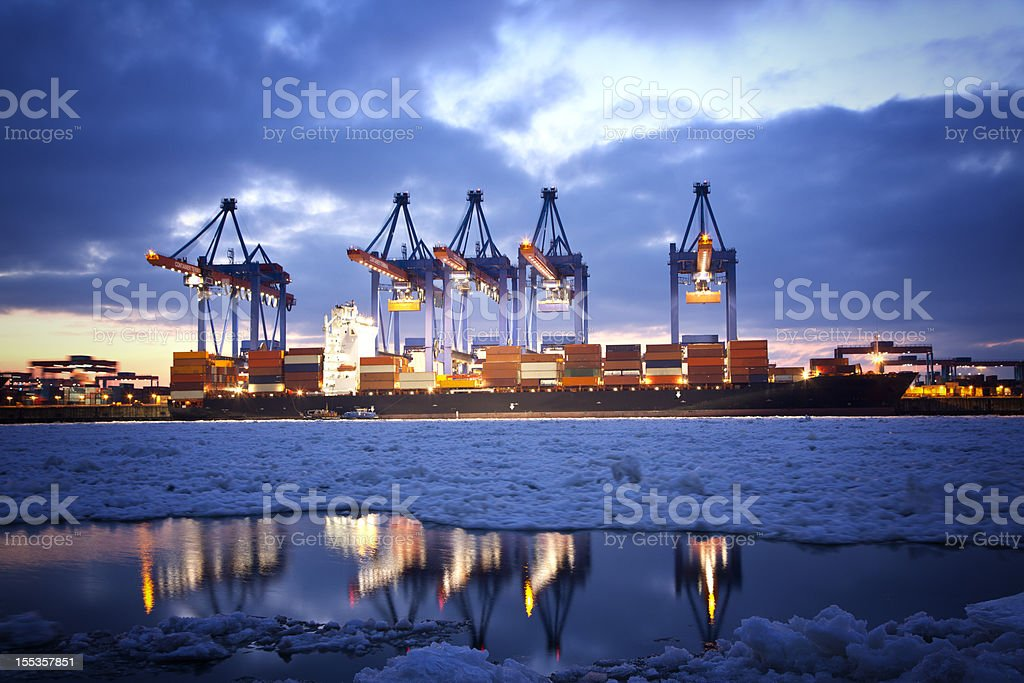 Hamburg Harbor stock photo
