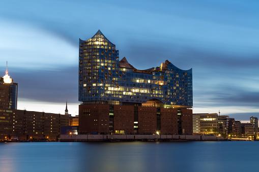 Hamburg harbour , Elbe Philharmonic Hall