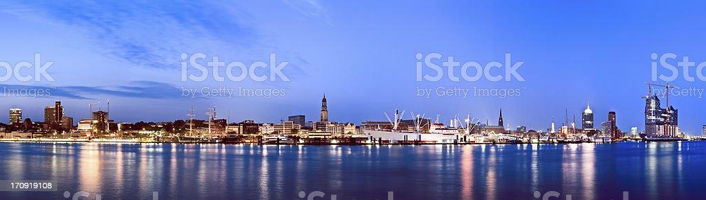 Hamburg harbour, Elbe river royalty-free stock photo