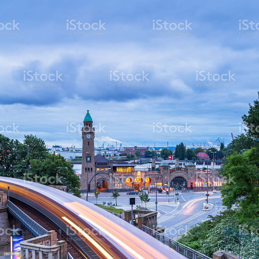 Hamburg harbour, Germany stock photo