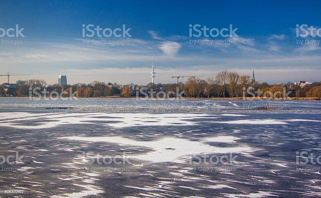 Hamburg im Winter 2016 Germany stock photo