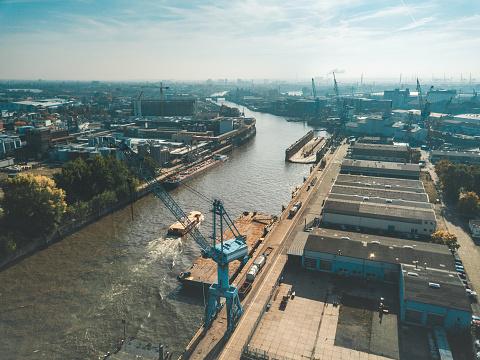 Hamburg industrial port