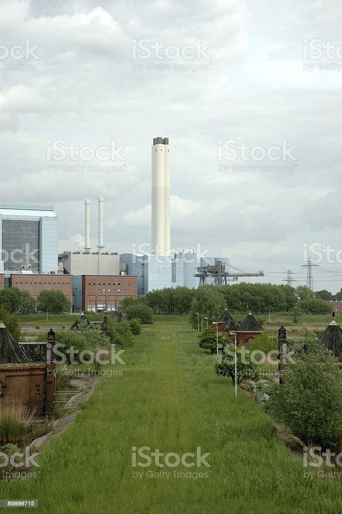 Hamburg industry views royalty-free stock photo