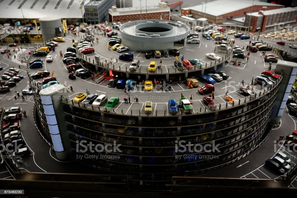 Hamburg International Airport parking house. stock photo