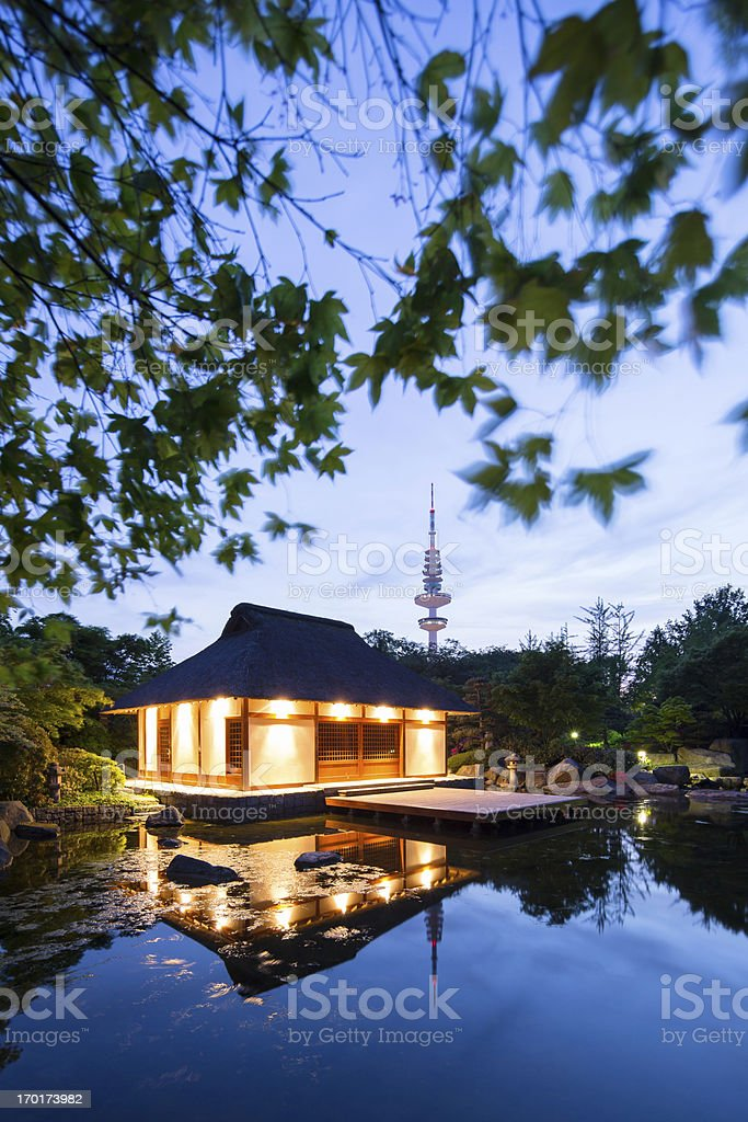 Hamburg, Japanese garden stock photo