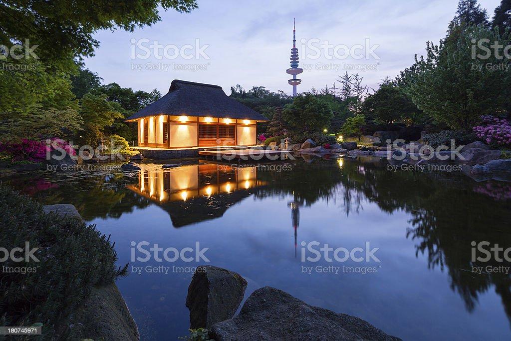 Hamburg, Japanese garden royalty-free stock photo