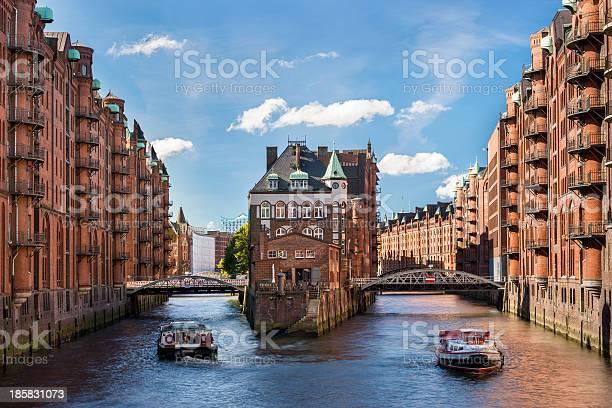Hamburg Landmark Wasserschloss Stock Photo - Download Image Now