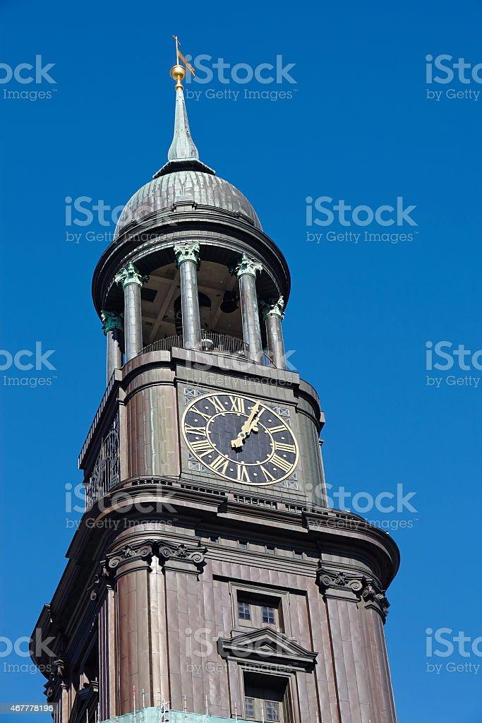 Hamburg - Michel (St. Michaelis Church) stock photo
