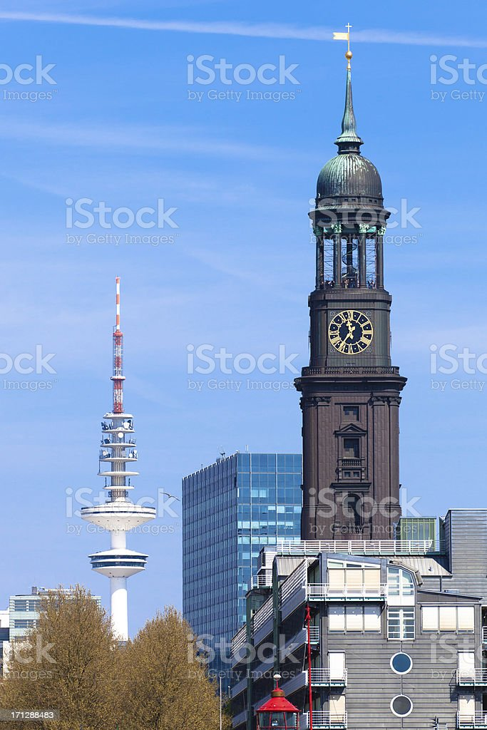 Hamburg Monuments stock photo