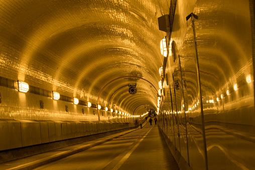 Hamburg old Elbe tunnel