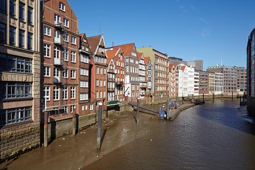 Hamburg - Old houses at the Nicolai Fleet