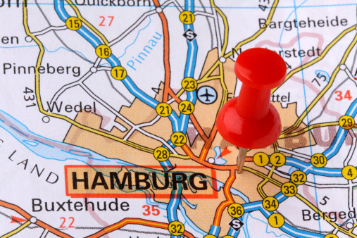 Hamburg on a map.