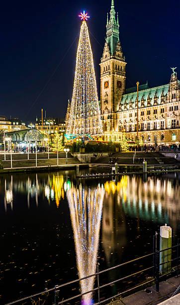 Hamburg Rathaus Christmas Market 2016 stock photo
