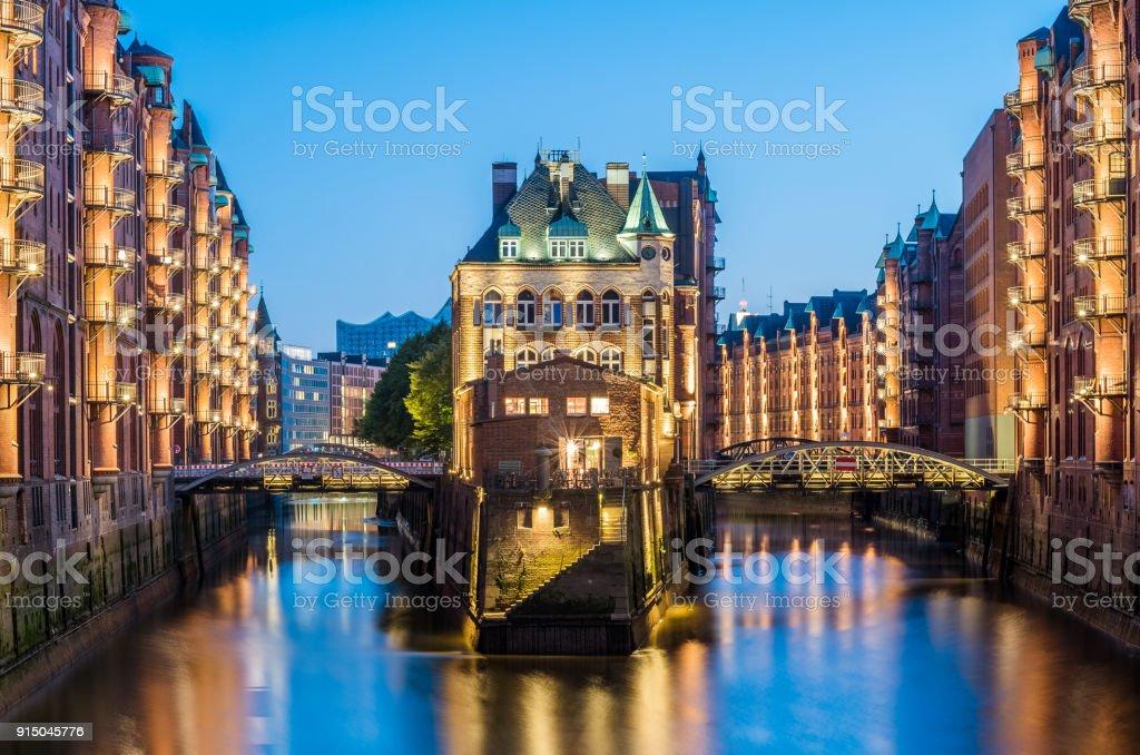 """Hamburg """"Speicherstadt"""" Deutschland Lizenzfreies stock-foto"""