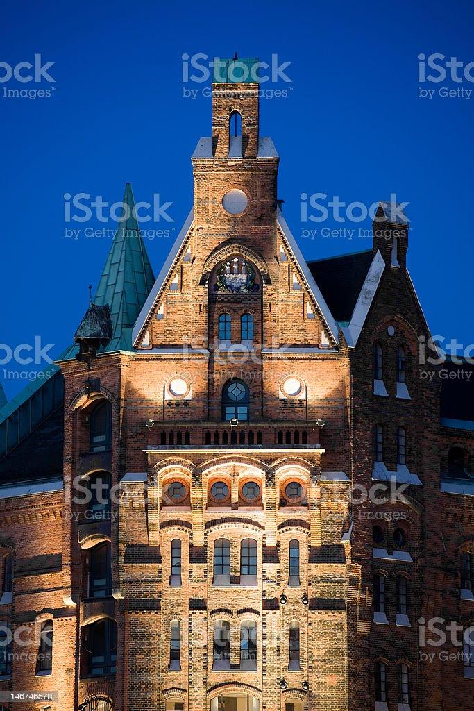 hamburg speicherstadt old buildings royalty-free stock photo