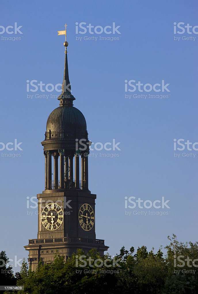 Hamburg, St. Michaelis Church stock photo