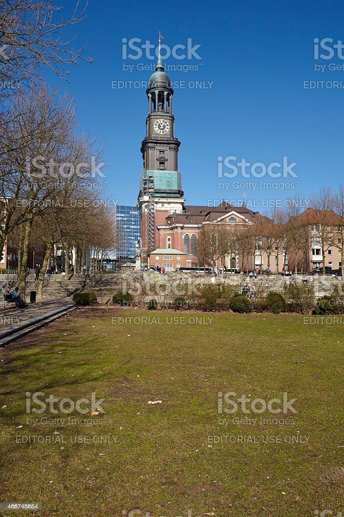 Hamburg - St. Michaelis Church (Michel) stock photo