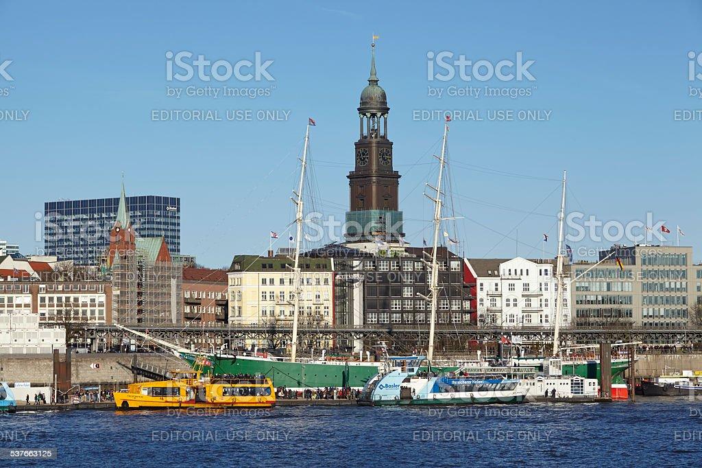 Hamburg - St. Michael's Church stock photo