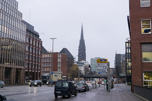 Hamburg streets and buildings.