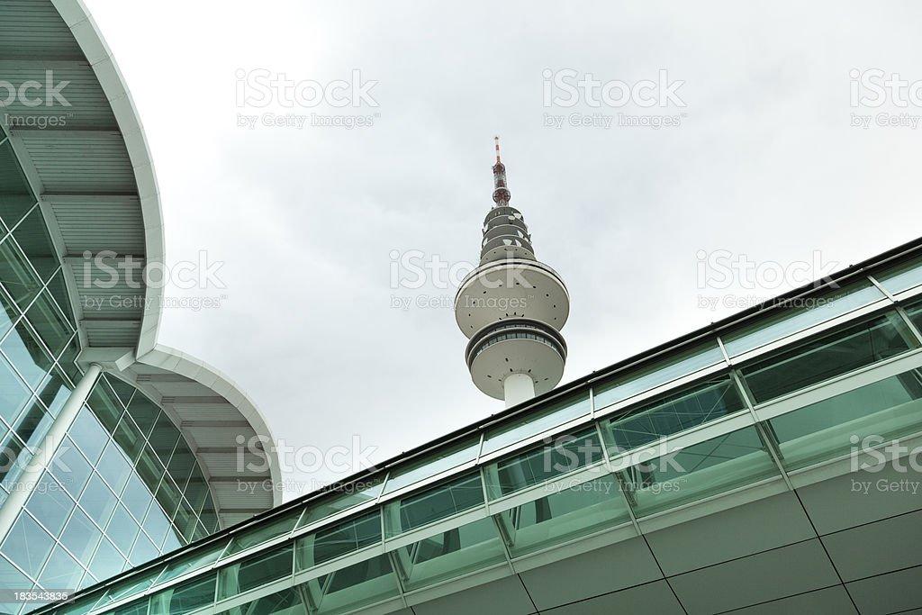 hamburg television tower stock photo