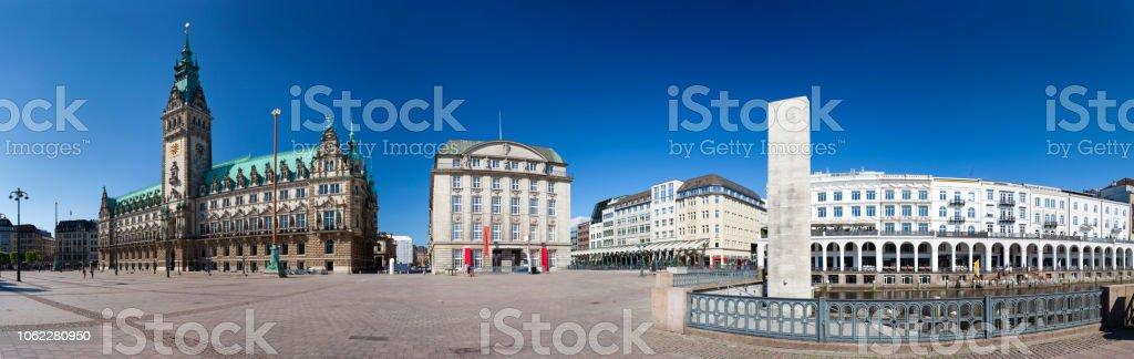 Hamburger Rathaus-Panorama – Foto