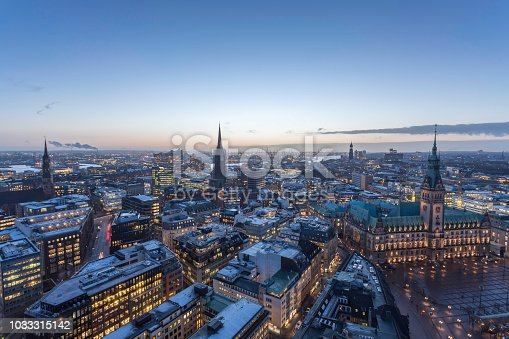 winter evening in Hamburg