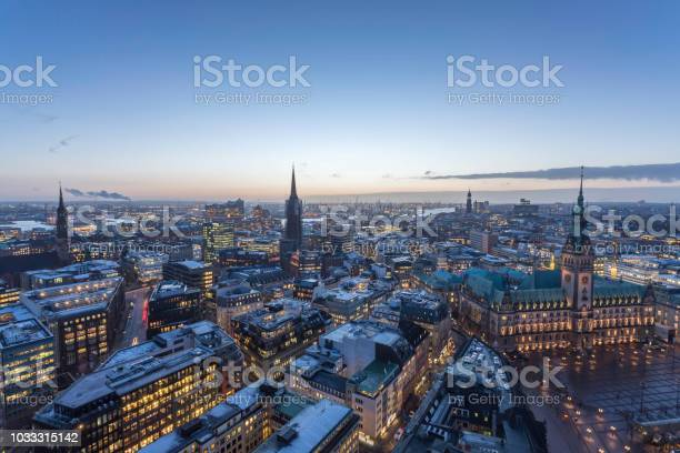 hamburg_evening - Foto de stock de Aire libre libre de derechos