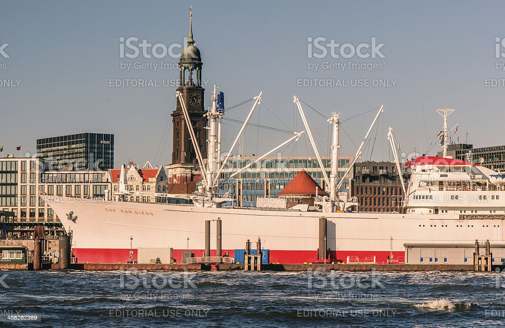 Hamburg-Cap San Diego royalty-free stock photo