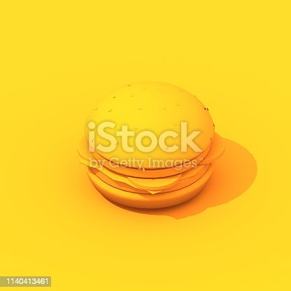 istock Hamburger 3d illustration 1140413461