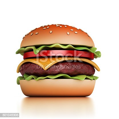 istock hamburger 3d illustration 501045305