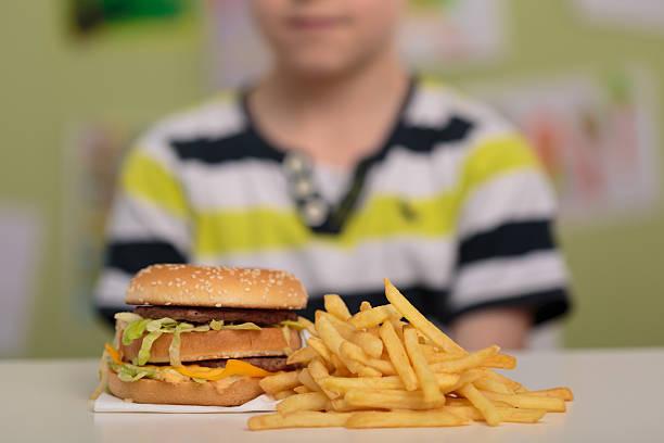 hamburger et frites - malbouffe photos et images de collection