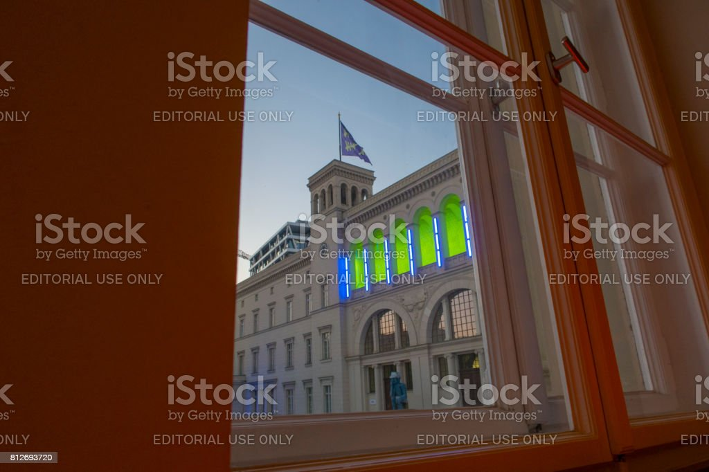 Hamburger Bahnhof,  Museum for Contemporary - Berlin stock photo