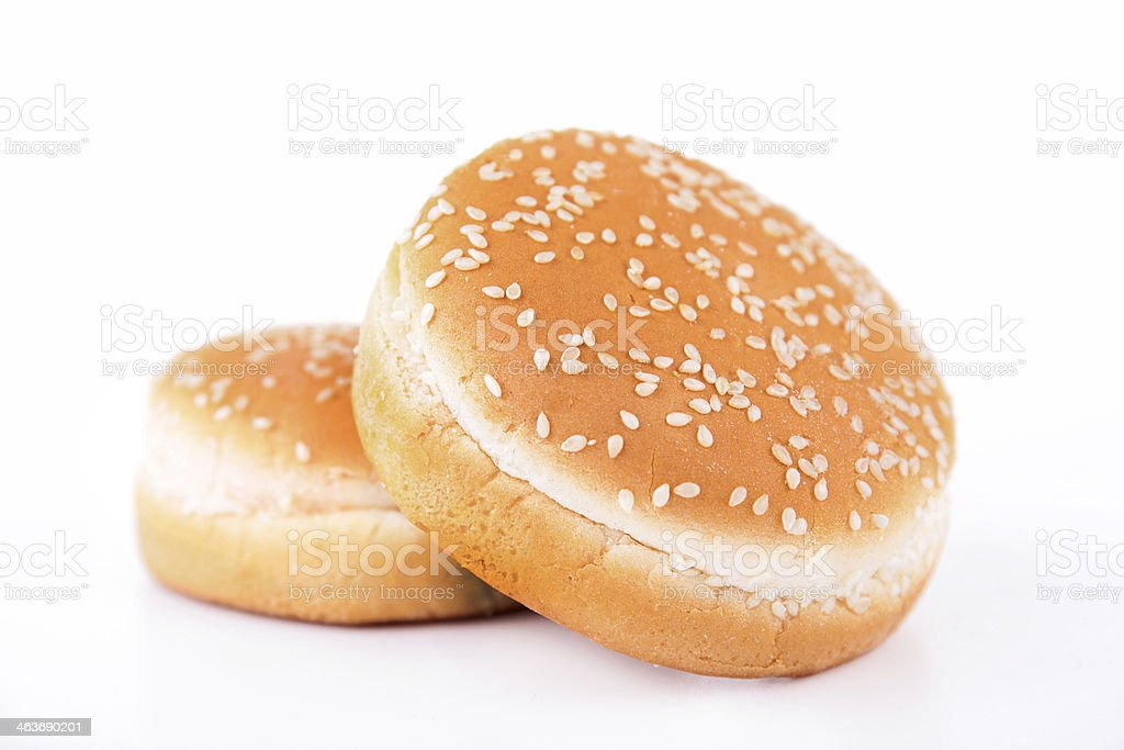hamburger bread isolated stock photo