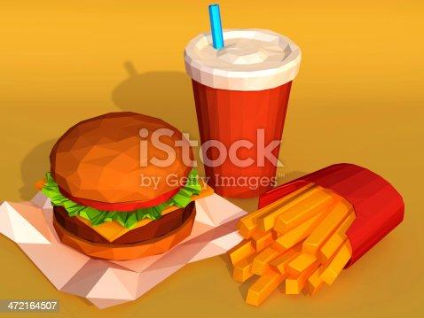 istock Hamburger combo 472164507