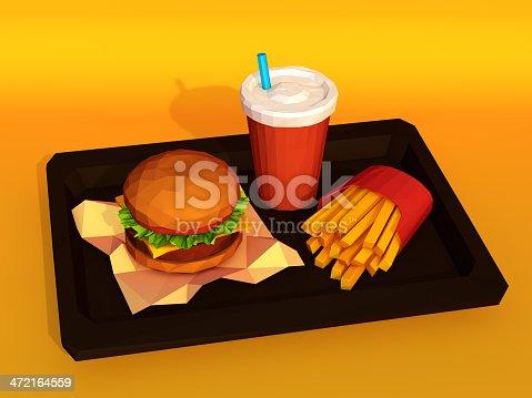 istock Hamburger combo 472164559