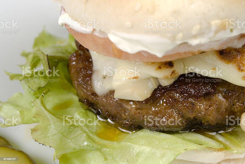 hamburger detail royalty-free stock photo