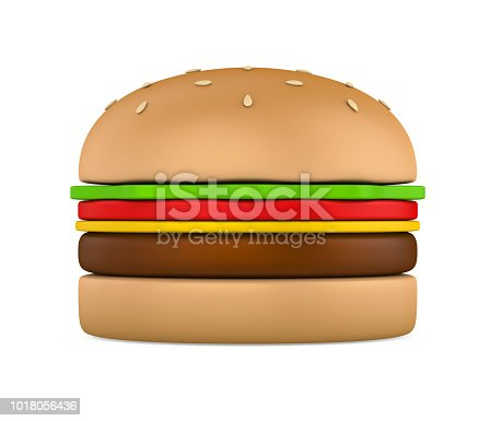 istock Hamburger Isolated 1018056436