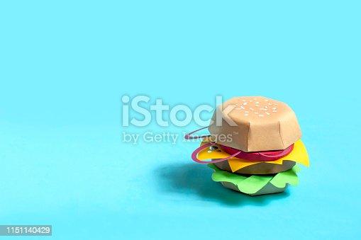 1156991909 istock photo Hamburger made of paper 1151140429