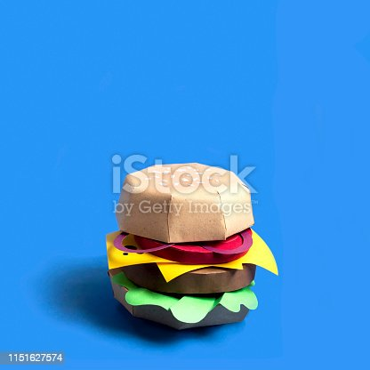 1156991909 istock photo Hamburger made of paper 1151627574
