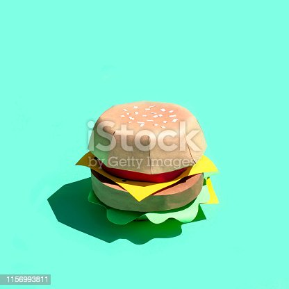 1156991909 istock photo Hamburger made of paper 1156993811