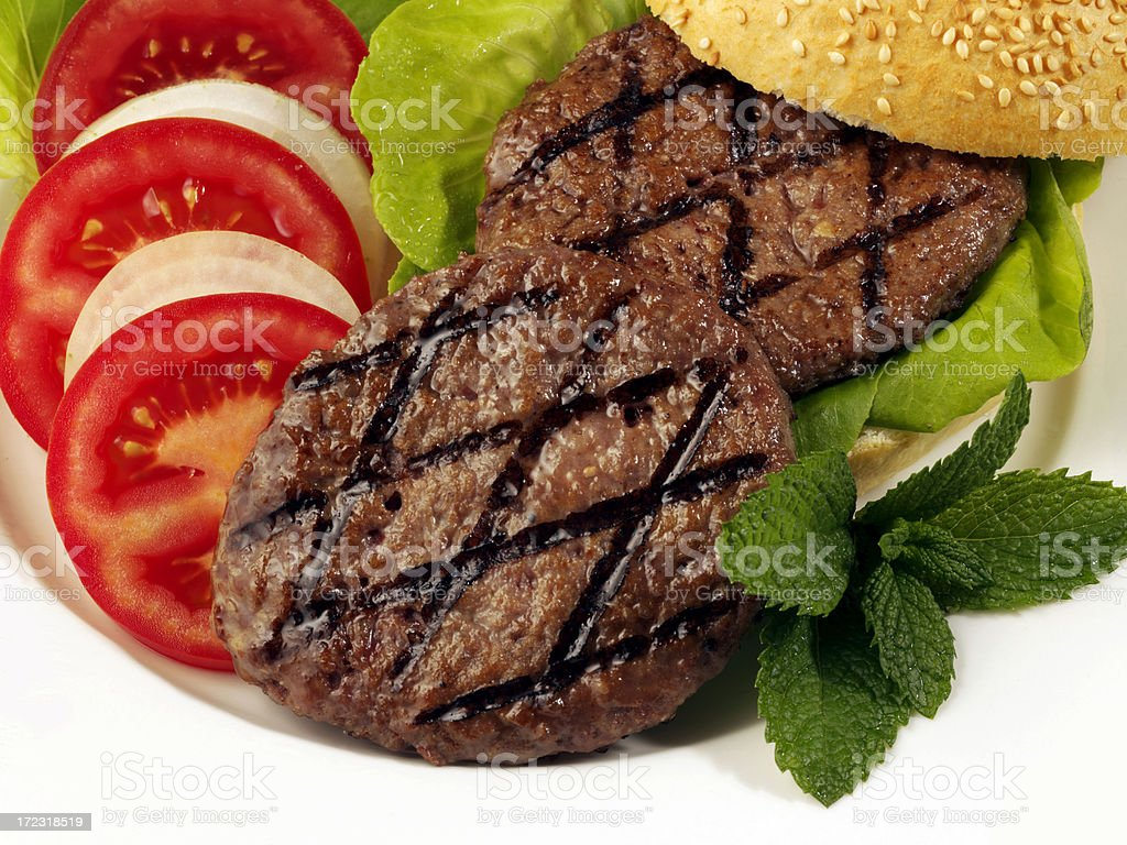 Hamburger Patties royalty-free stock photo