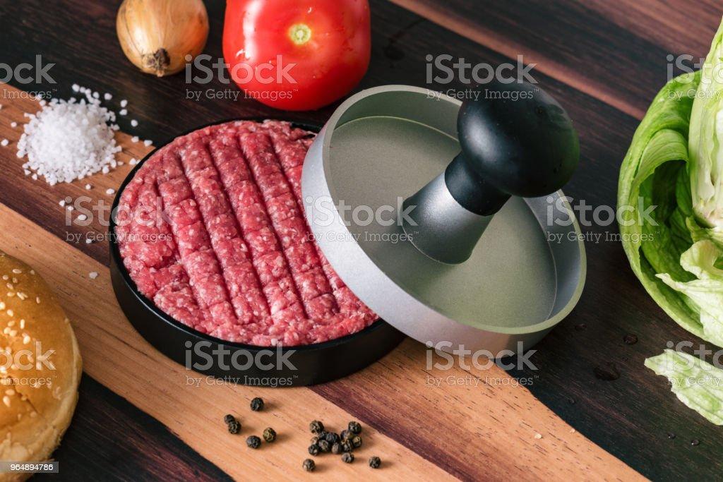 Hamburger Patty Press royalty-free stock photo